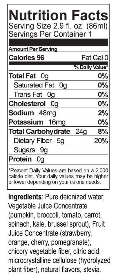Fruitasia Nutrition Facts