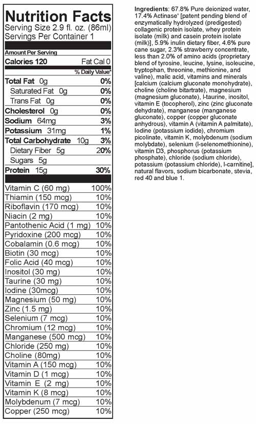 Pediagro Nutrition Facts